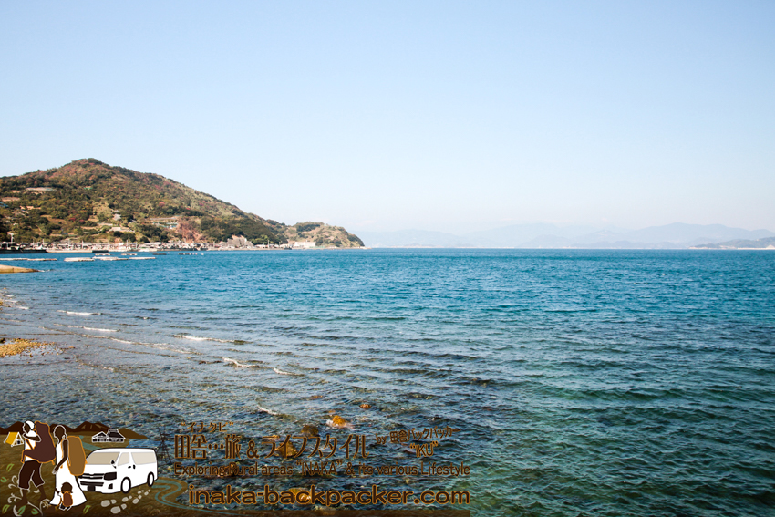 日振島の海 綺麗で透明だ。