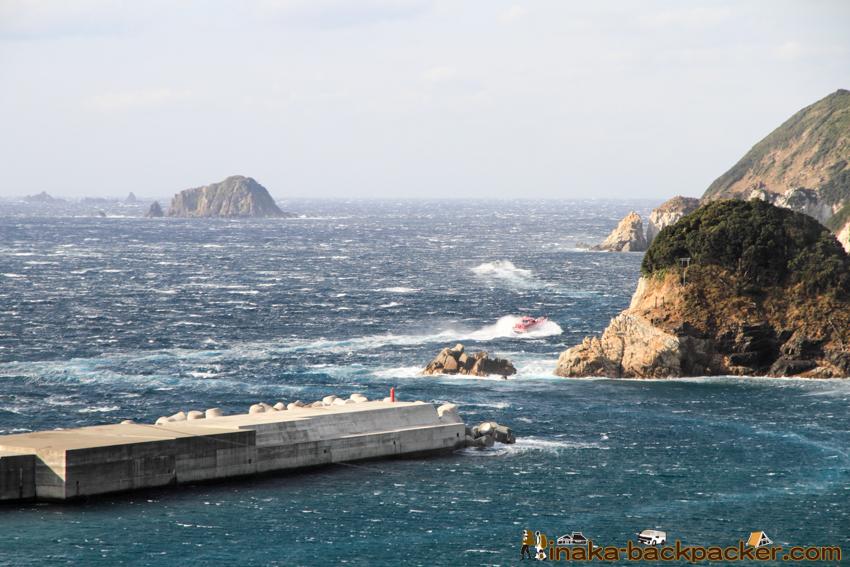 strong wind okinoshima island 強風 島 沖の島