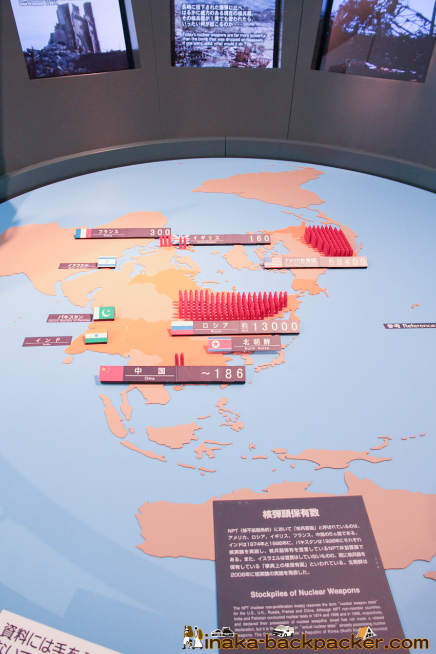 Nagasaki Atomic Bomb Museum – Numbers of Nuclear Weapons in the world