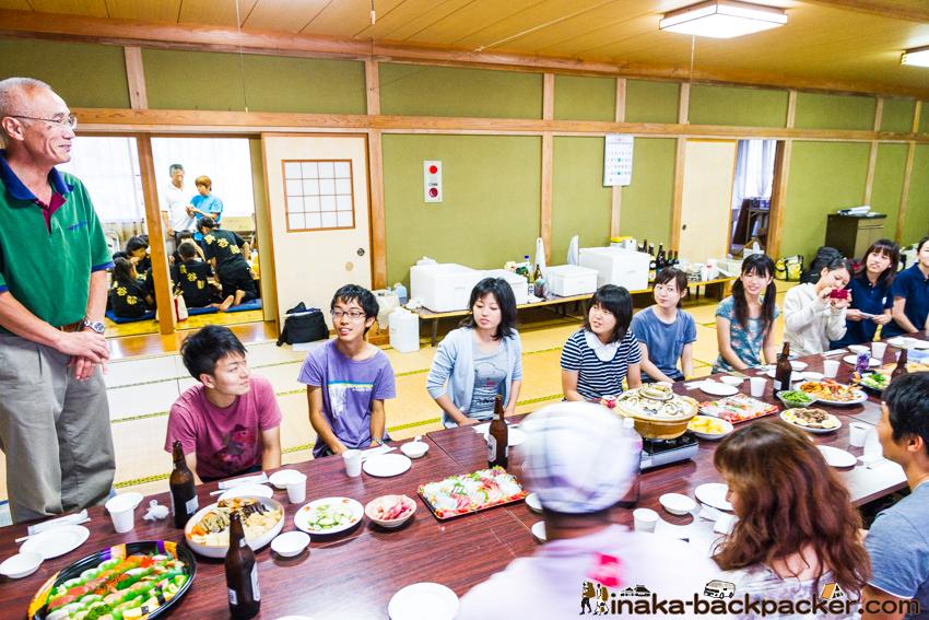 能登 穴水町岩車 キリコ祭り 宴会 金沢大学 祭り体験