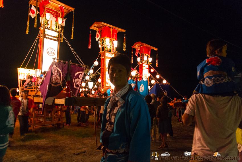 田舎体験 キリコ祭り