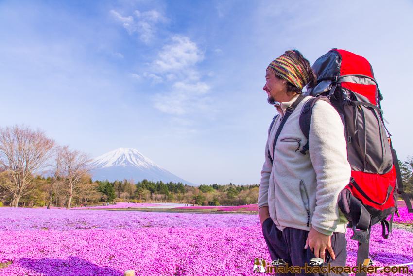 芝桜 朝霧高原 富士山 バックパッカー 車中泊 車旅 バンライフ
