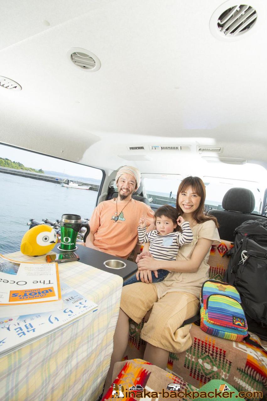 家族でクルマ旅 バンライフ