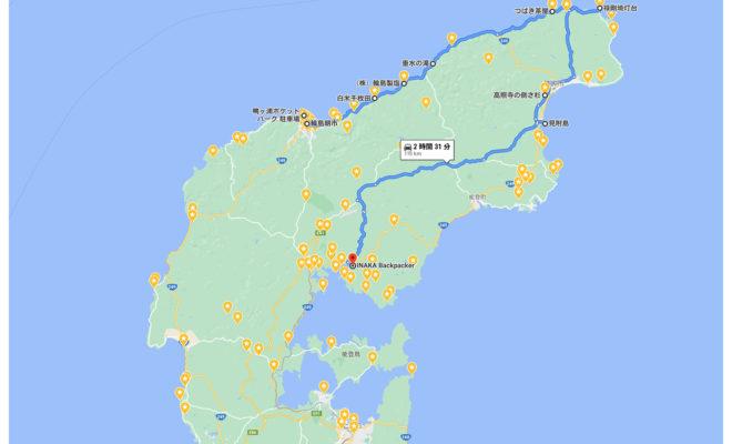 奥能登一周 地図 map of noto sightseeing spot map