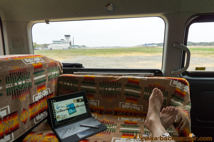 能登空港 のと里山空港 仕事 車中泊 駐車場 noto airport camper van roadside station in Wajima Ishikawa