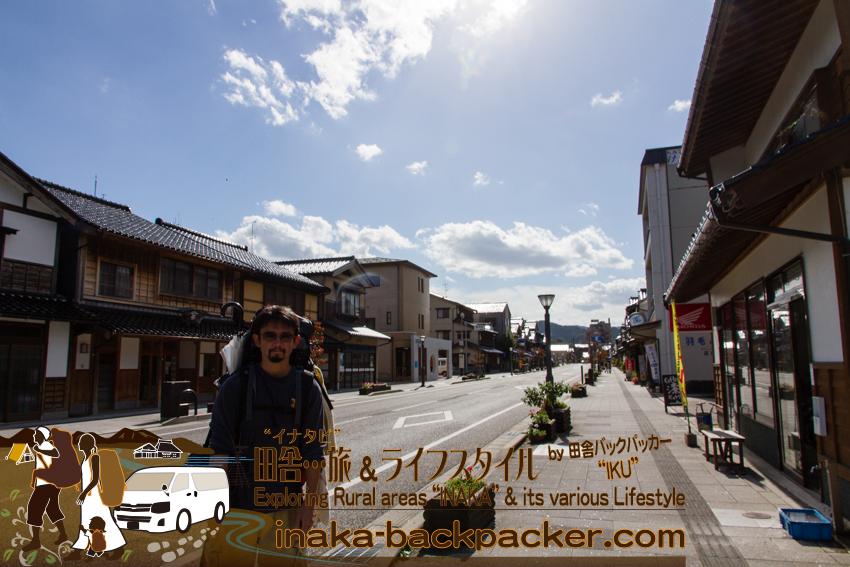 石川県輪島の街並み スペース感ある町で綺麗だ。