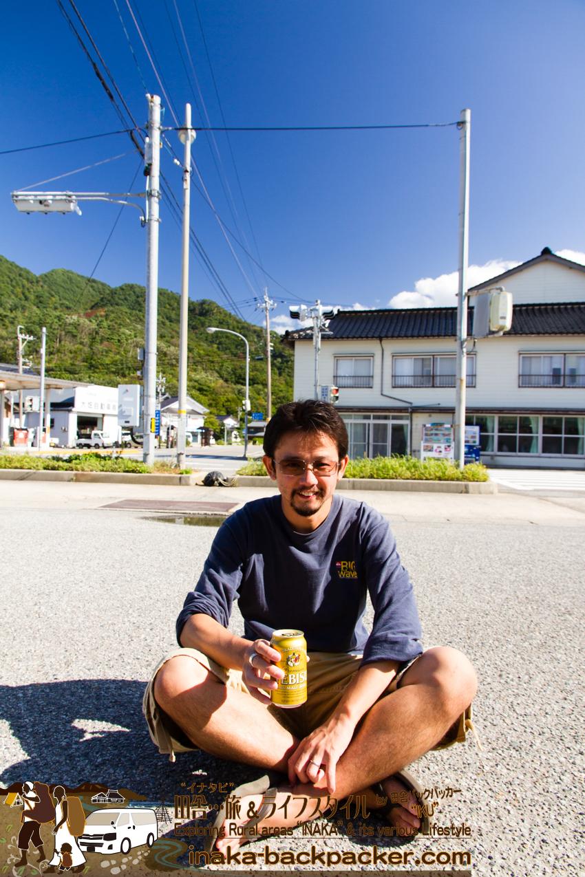 石川県輪島市曽々木で昼ビール中