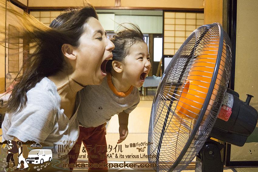 田舎の夏 これで決まり 工業用扇風機