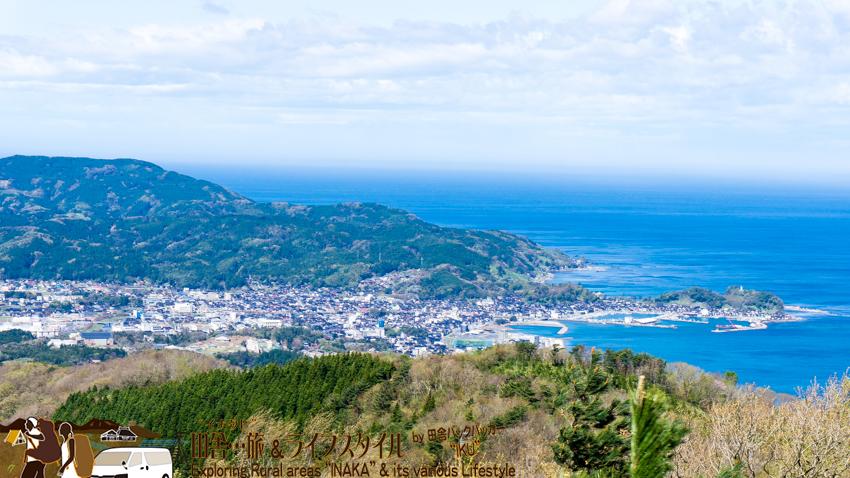 輪島 高州山からの眺め 輪島の町