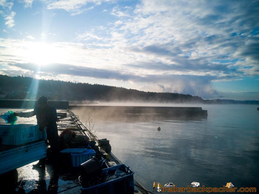 能登 石川県 穴水町 極寒 漁港 漁師 Noto Ishikawa Anamizu Winter Season Fisherman