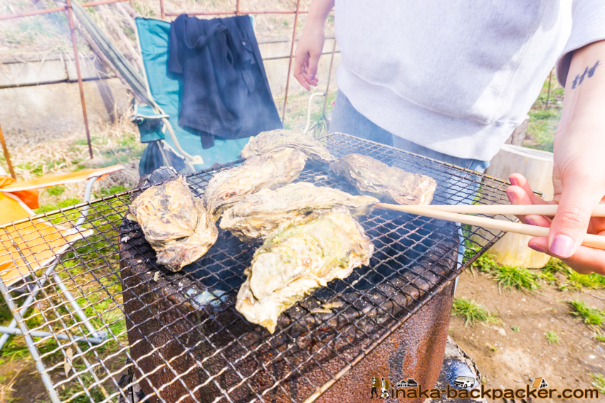 Oyster BBQ in Anamizu 牡蠣 BBQ 穴水町 石川県 能登
