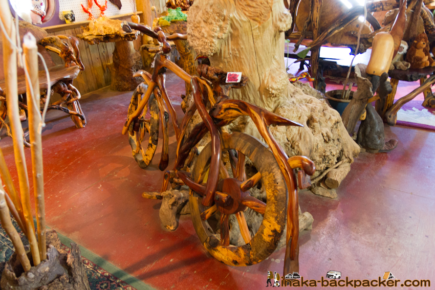 It's a BURL wooden bicycle 木の自転車