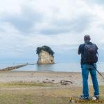 mitsukejima rock island in Ishikawa Japan 見附島 珠洲 石川県