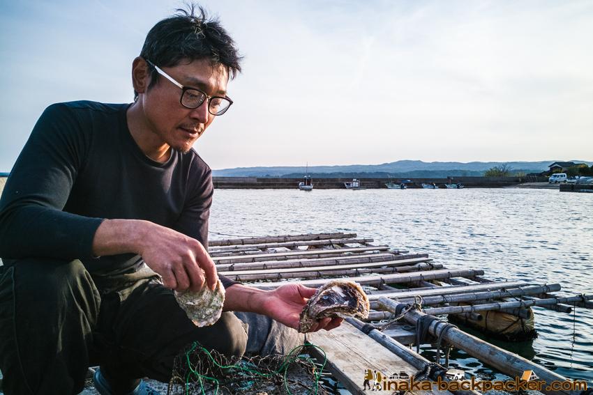 Oyster in Iwaguruma Anamizu Noto Ishikawa 牡蠣 岩車 穴水町 石川県 能登 河端譲