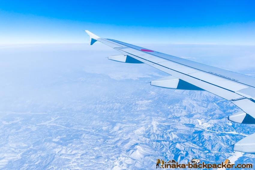 能登から羽田空港 空の写真