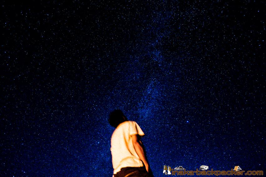 Milky way stars in Japan 能登半島 穴水町 星空 天の川
