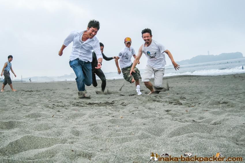 砂浜 ランニング 湘南 バーベキュー