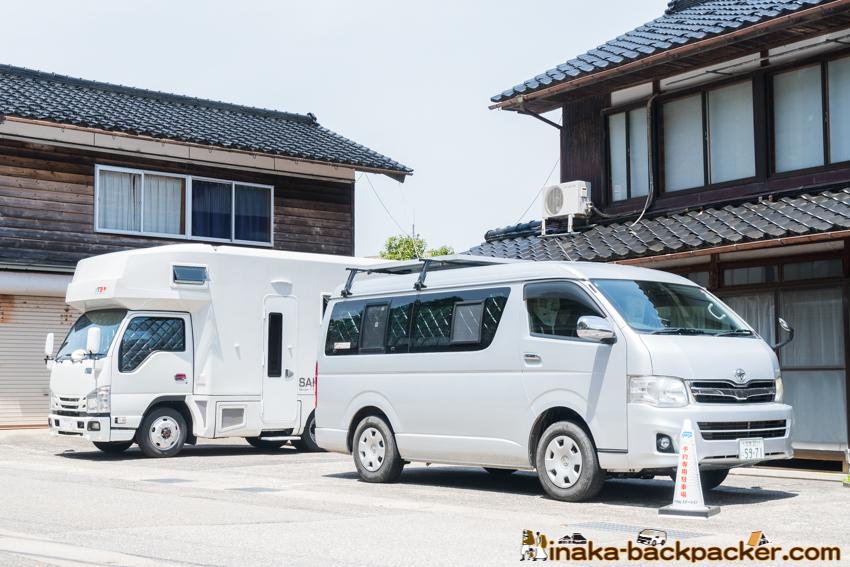 長期滞在 車中泊スポット 駐車場 シェアハウス 能登 石川県 穴水町 秋葉さん SAKURA キャンピングカー