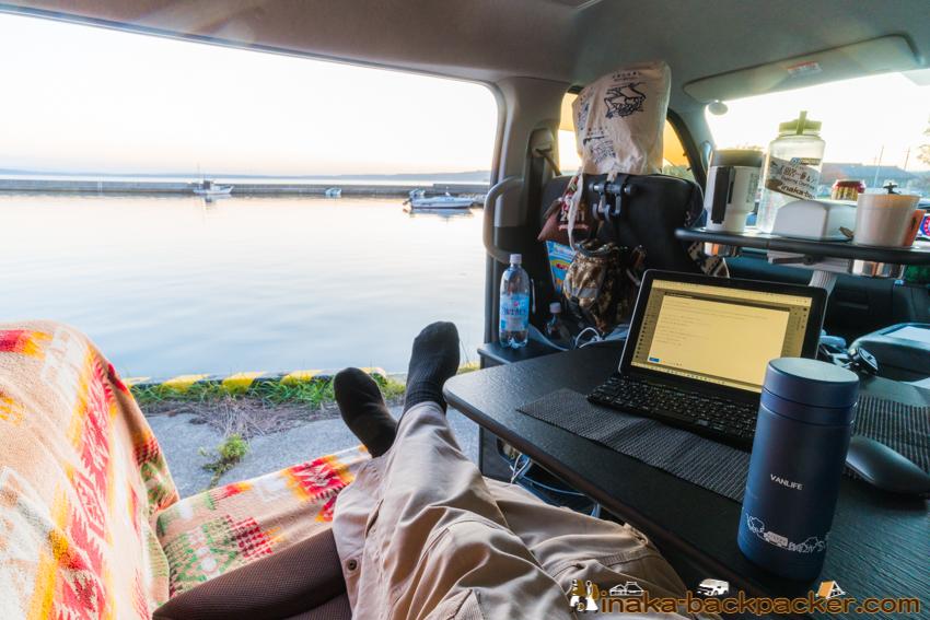 ハイエース キャンピングカー RV 車中泊 ワ―ケーション 2段ベット 車内テレワーク 動くオフィス