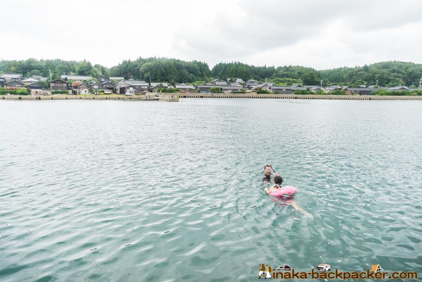 田舎暮らし プール 水泳 海 バンライフ 能登 石川県 穴水町 岩車 シェアハウス アパート 空き家
