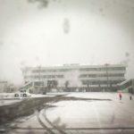 能登空港 雪